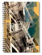 Fire Escapes In White And Gold Spiral Notebook