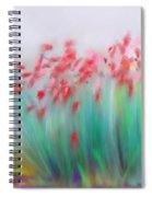 Fire-flowers-spring Spiral Notebook
