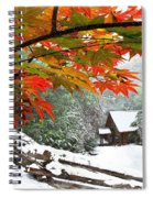 Fire Fog And Snowy Fence Spiral Notebook
