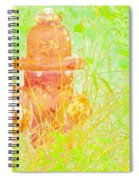 Fire Hydrant Watercolor Spiral Notebook