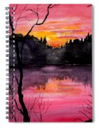 Fire In The Sky    Lake Arrowhead Maine Spiral Notebook
