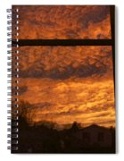 Fire In The Sky 2 Spiral Notebook