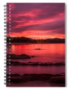 Fire In The Sky Spiral Notebook