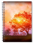 Fire In The Trees Spiral Notebook