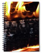 Fire On Wood Spiral Notebook