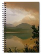 Fire Over St Mary Lake Spiral Notebook