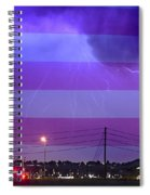 Fire Rescue Station 67  Lightning Thunderstorm With Usa Flag Spiral Notebook