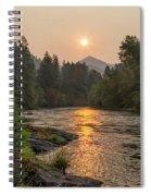 Fire Sunrise On Mckenzie River Spiral Notebook