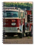 Fire Truck  Engine 13 Village Of Tully New York Pa Spiral Notebook