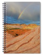 Fire Wave Rainbow Dawn Spiral Notebook