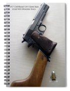 Firearms 1917 Colt Model 1911 Semi Auto 45cal With Shoulder Stock Spiral Notebook