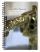 Firearms Gold Colt Single Action Army 45cal Revolver Spiral Notebook