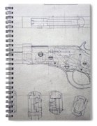 Firearms Lever Action Rifle Drawing Spiral Notebook