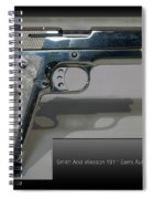 Firearms Smith And Wesson 1911 Semi Auto 45cal Pearl Handle Pistol Spiral Notebook