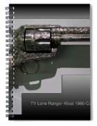 Firearms Tv Lone Ranger 45cal 1960 Colt Army Revolver Spiral Notebook