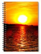 Fireball Falling Spiral Notebook