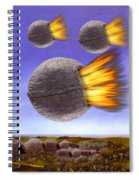 Fireballs Spiral Notebook