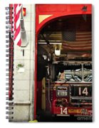 Firefighters Of New York - Engine Sweet 14 - Closeup Spiral Notebook