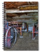 Firefighting Engine Company No. 1 - Nevada City Montana Ghost Town Spiral Notebook