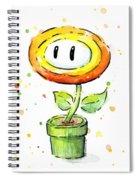 Fireflower Watercolor Spiral Notebook