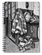 Fireman - Always Ready - Black And White Spiral Notebook