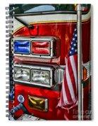 Fireman - Fire Truck Spiral Notebook