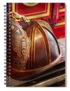 Fireman - Hat - Commander  Spiral Notebook