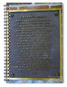 Fireman's Prayer Spiral Notebook