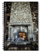 Fireplace At The Lodge Vertical Spiral Notebook