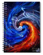 Firestorm Dancing With The Wind  Spiral Notebook
