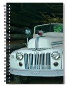Firetruck In A Barn Spiral Notebook