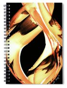 Firewater 1 - Buy Orange Fire Art Prints Spiral Notebook