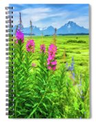 Fireweed In The Foreground 2 Spiral Notebook
