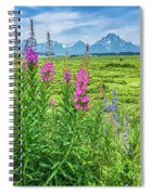 Fireweed In The Foreground Spiral Notebook