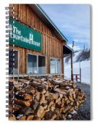 Firewood Ready To Burn In Fire Place Spiral Notebook