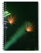 Firework Abstract Spiral Notebook