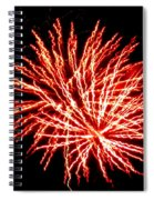 Firework Fireball Spiral Notebook