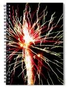 Firework Pink And Green Streaks Spiral Notebook