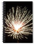 Firework White Fluff Spiral Notebook