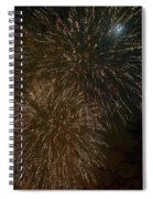 Fireworks 4 With Moon Spiral Notebook