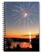 Fireworks And Sunset Spiral Notebook