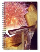 Fireworks At Guggenheim Spiral Notebook