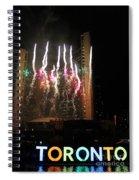 Fireworks At Toronto City Hall Spiral Notebook