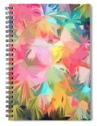 Fireworks Floral Abstract Square Spiral Notebook