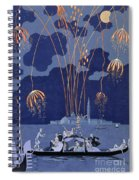 Fireworks In Venice Spiral Notebook