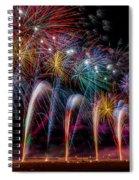 Fireworks Line Spiral Notebook