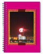 Fireworks Over The Las Vegas Strip Spiral Notebook
