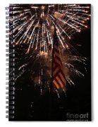 Fireworks With Flag Spiral Notebook