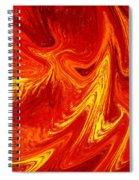Firing Up Abstract  Spiral Notebook