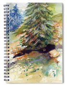 Firs On The Hill Spiral Notebook